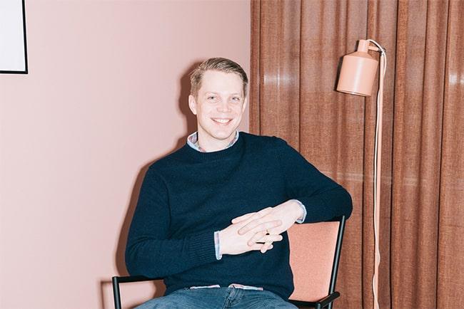 Fredrik Hedberg, en av Tinks grundare
