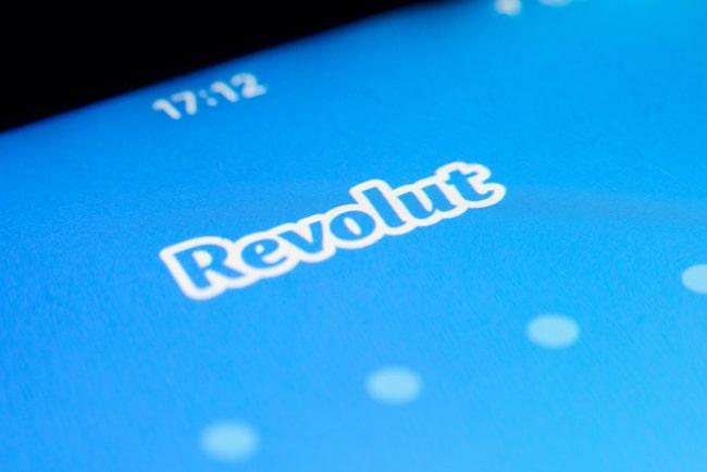 Revoluts blåa hemsida