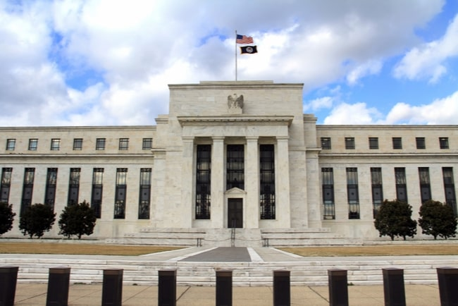 Amerikanska centralbanken Federal Reserve.