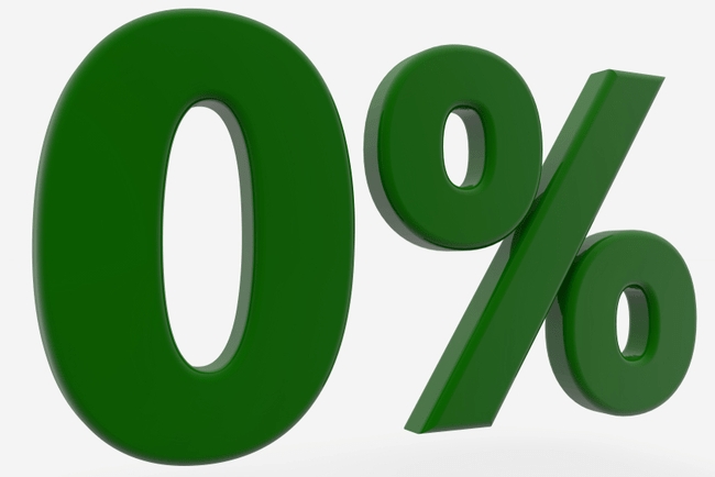 noll procent-illustration i grönt