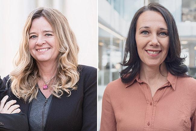 Kollage Claudia Wörmann, boendeekonom SBAB och Annika Winsth chefsekonom Nordea
