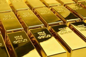 Guldtackor staplade bredvid varandra