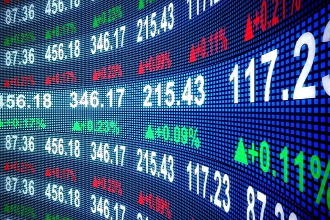 siffror på börsmarknaden